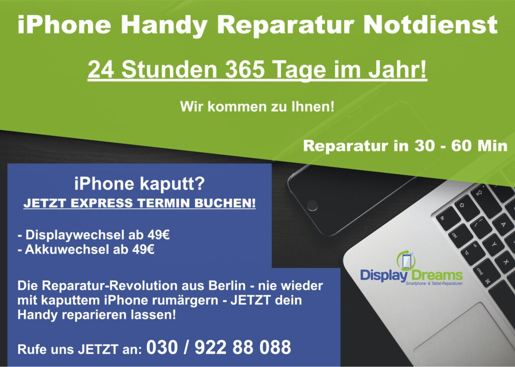 iPhone Express Reparatur Notdienst